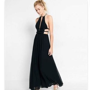 Express Strappy Side Plunge Cut-Out Maxi Dress